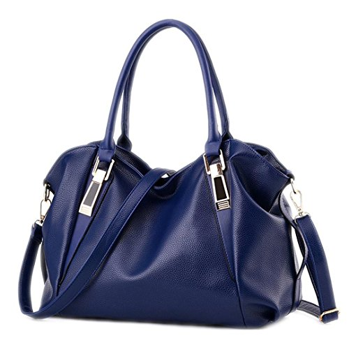 Ladies Women Blue Hobos Female Totes Ladies Portable Handbag PU Handbags Office Leather Bag Bags Bag Shoulder qqPBA