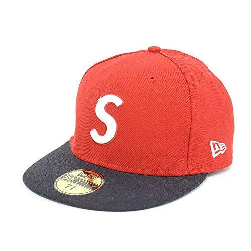 (シュプリーム) SUPREME 【08AW】【S logo cap】Sロゴキャップベースボールキャップ(7 3/8/レッド×ネイビー) 中古 B07FVQ6Z2H  -