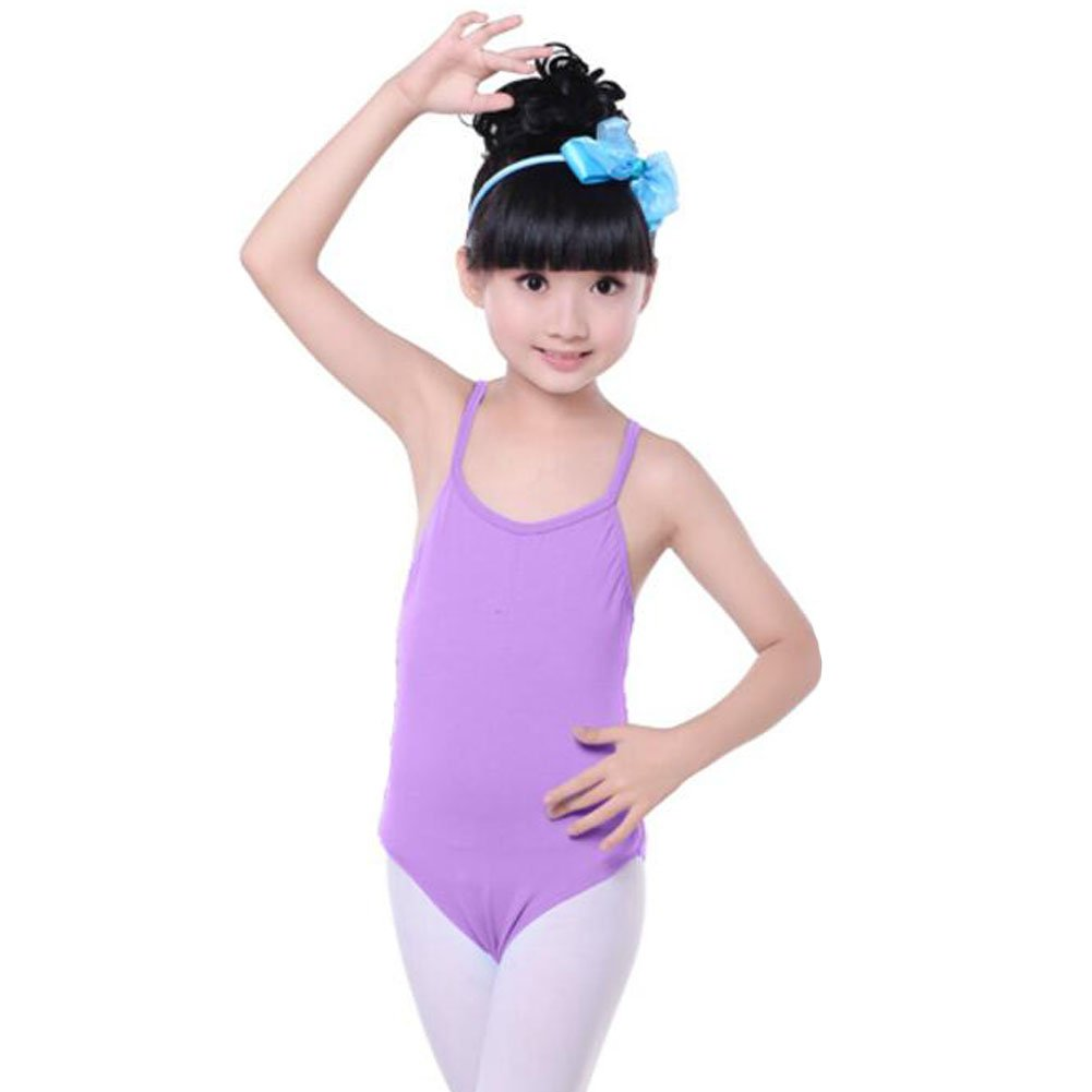 2dbf5dee069f Black Temptation Cotton Gymnastics Leotards for Girls Leotard Dance ...