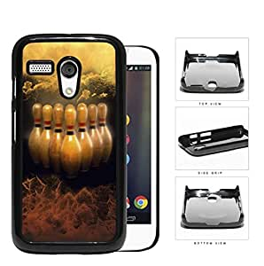 Brown Bowling Pins Grunge Hard Plastic Snap On Cell Phone Case Motorola Moto G