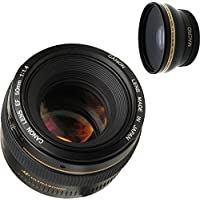 Canon 50mm 1.4 Portrait Lens + High Definition Wide Angle Auxiliary Lens