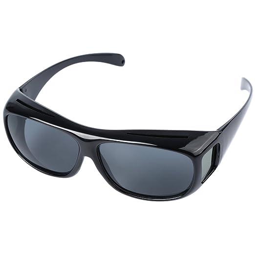 266dc19190cb Amazon.com  HD Night Vision Wraparounds Wrap Around Driving Glasses ...