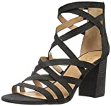 Franco Sarto Women's Madrid Heeled Sandal, Black, 7 Medium US