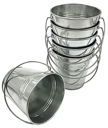 6 pack Metal Bucket, Galvanize Metal Bucket 5