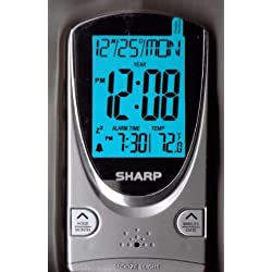 Sharp Digital Travel Alarm Clock - Grey (Spc446d)