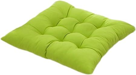 cojines de asiento para silla,Worsendy cojines para silla cojines de terraza, Almohadillas de asiento cómodo, cocina de jardín Cojines de silla de comedor 40 x 40 x 5 cm (Verde): Amazon.es: Hogar