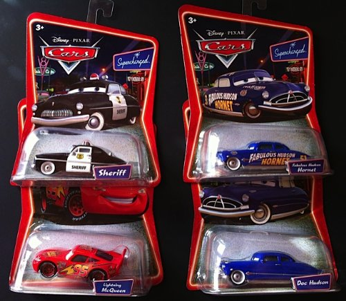 Sheriff Supercharged (Disney Pixar Cars Movie Supercharged Sheriff, Doc Hudson, Fabulous Hudson Hornet, Lightning)