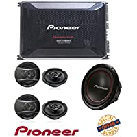 Pioneer GM-D9605 Gm Digital Series Class D Amp (5-Channel 2,000W Max) W/ Pioneer TS-A1686R 6.5 350-Watt 4-Way Speakers (2Pairs) + Pioneer TS-W304R 12-Inch Subwoofer 1300 Watts Max Power