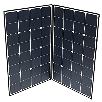 New Elfeland SP-22 160W Folding Portable Solar Panel With A Connector To Two MC4 By koko