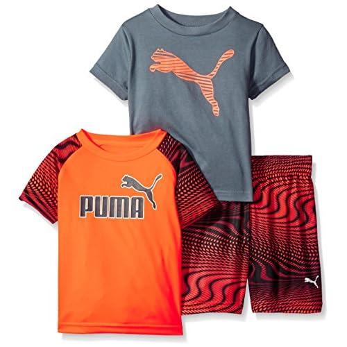 new PUMA Boys' Logo 3-Piece Tees and Short Set supplies