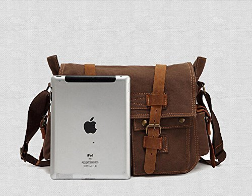 """ac3dc35517c eBoTrade New Version Men's Trendy """"Colonial"""" Italian Style Messenger Gift  Bag with Leather Straps"""