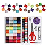 Sewing Thread 100 Quantity Mixed Colors Sewing Kit For Basic Sewing Machine, Emergency and Travel (LT-B00BWXDHZY)