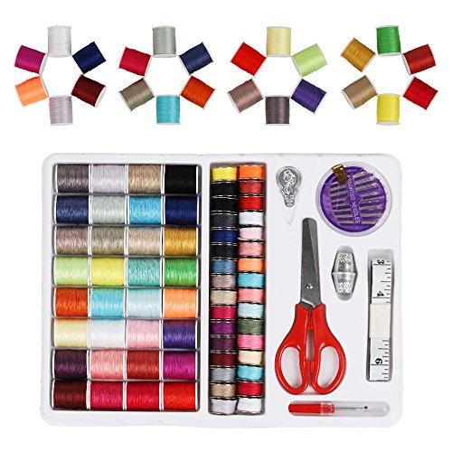 iMAX Sewing Thread 100 Quantity Mixed Colors Sewing Kit For