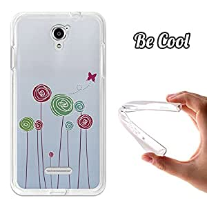 BeCool® - Funda Gel Flexible Coolpad Modena BeCool Baby on Board Flores Carcasa Case Silicona TPU Suave
