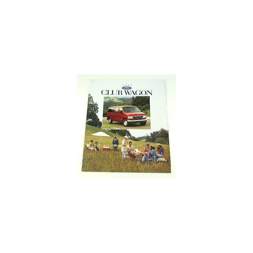 1996 96 Ford CLUB WAGON Van BROCHURE XLT Chateau XL
