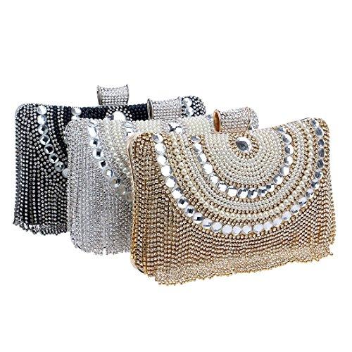 borsa borsa borsa da diamante Kervinjessie colore borsa rosso frizione oro borsa sera donna qR0U8