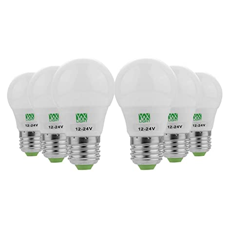 MQ 6Pcs 3W 200-300Lm E26 / E27 Bombillas LED Globo 6 Granos LED SMD