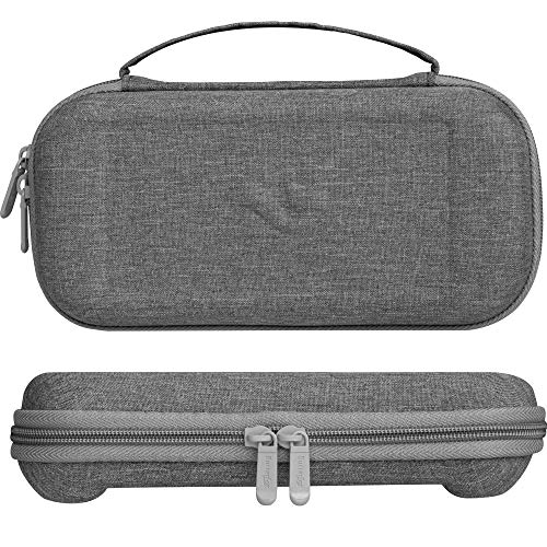 ButterFox Slim Carrying Case for Nintendo Switch Lite,19 Game and 2 Micro SD Card Holders, Storage for Switch Lite Accessories (Gray)