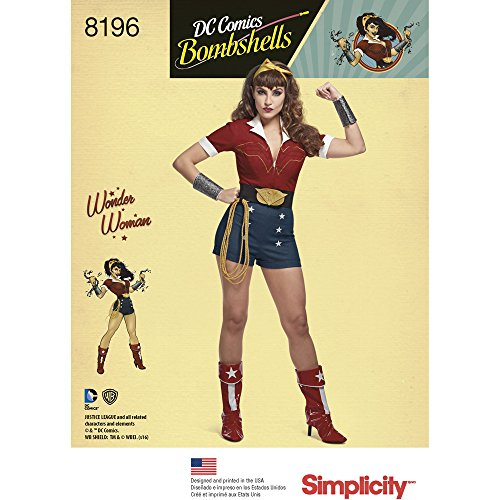 Simplicity 8196 Bombshells Costume 14 16 18 20 22 product image