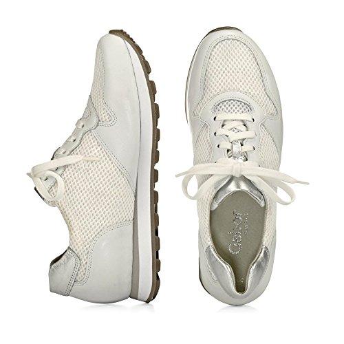 Gabor - Zapatillas para mujer blanco blanco y plateado *