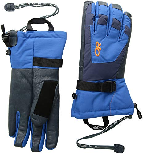 Outdoor Research Men's Revolution Gloves, Cobalt/Naval Blue/Burnt Orange, ()
