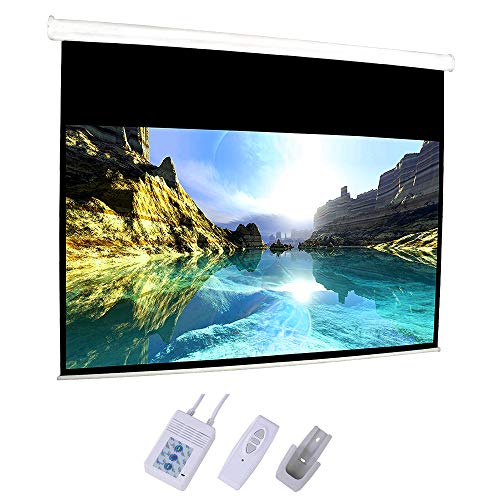 """Price comparison product image Motorized Projector Screen,92"""" Electric Projection Screen HD Movie White with 16:9 Remote Control for Home Theater Movies Conference Room Presentations Public Display"""