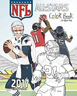 nfl all stars 2017 coloring and activity book for adults and kids feat