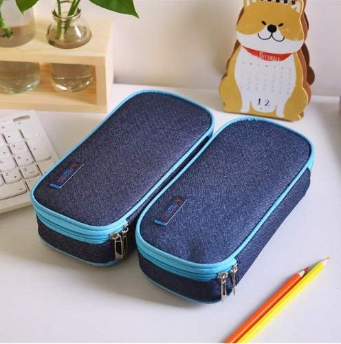 Flamigo Bonut Cute Pencil case Korea Multifunction School Pencil Case & Bags Large Capacity Canvas Pen Curtain Box for Boy Students Gifts Stationery Supplies