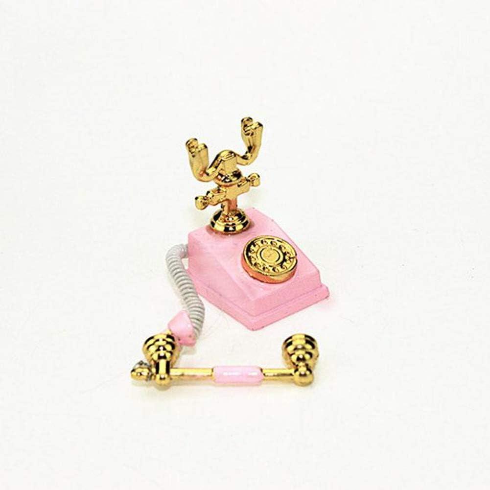 1/12 de la Escala Miniatura Dollhouse Accesorios Mini teléfono de ...
