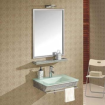 Wikao Waschbecken Glas Weiß Infinity U2013 Badezimmer Waschbecken Glas ()