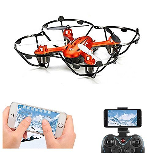 FPV RC Quadcopter Drone With 2MP HD Wifi Camera Mini Drone Real Time Live Video 4 Channel 2.4GHz 6-Gyro RC Helicopter H6W