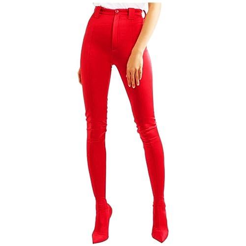 4814d039a DZW Botas de mujer Nuevos pantalones de zapatos Apuntado Tacones altos Sexy  De tacón alto Tamaño