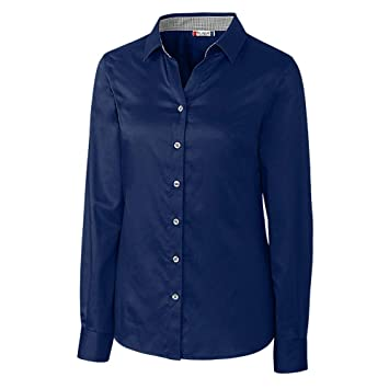 f737437fc8f Image Unavailable. Image not available for. Color  Clique Women s Stain  Resistant Twill Button Shirt