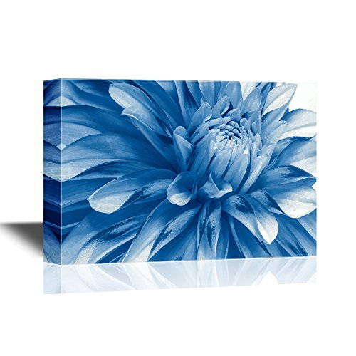 (wall26 - Floral Canvas Wall Art - Soft Blue Flower Close-Up - Gallery Wrap Modern Home Decor | Ready to Hang - 12x18 inches)