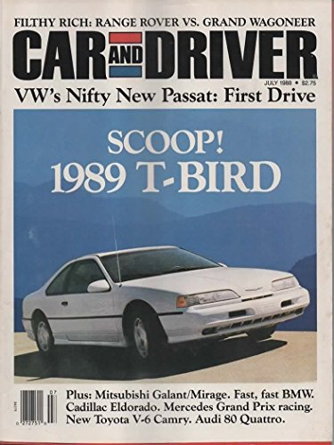 Car & Driver Magazine, July 1988 (Vol 34, No -