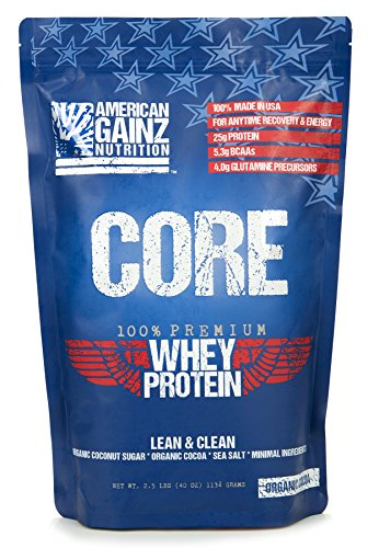 Core – 100% American Made │2.5 lbs of Premium Whey Protein from Idaho Farms│Organic Cocoa │Organic Coconut Sugar│ 5.3 Grams BCAAs│No Fillers – Leanest & Cleanest│Grass Fed Cows Review