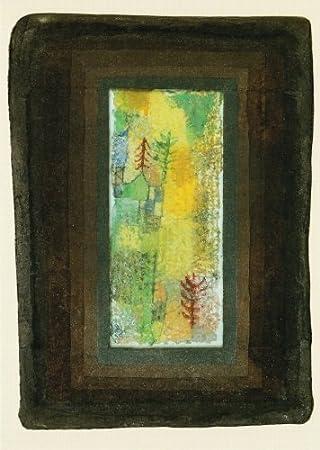 Blick aus dem Atelierfenster Kunstpostkarte Paul Klee