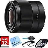 SEL28F20 - FE 28mm F2 E-mount Full Frame Prime Lens Bundle includes FE 28mm F2 E-mount Full Frame Prime Lens, 32GB Memory Card, 49mm Deluxe Filter Kit, Dust Blower, Lens Cap Keeper & Micro Fiber Cloth