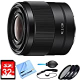 SEL28F20 - FE 28mm F2 E-mount Full Frame Prime Lens Bundle includes FE 28mm F2 E-mount Full Frame Prime Lens, 32GB Memory Card, 49mm Deluxe Filter Kit, Dust Blower, Lens Cap Keeper & Micro Fiber Cloth