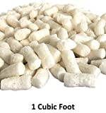 1 Cu Ft White Bio Tube Recycled Anti Static Packing Peanuts Tube Shape Loose Fill | Magicwater Supply