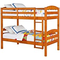 Mainstays Twin Over Twin Wood Bunk Bed (1, Pine)
