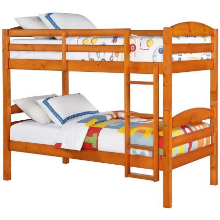 Better Homes and Gardens Leighton Twin Over Twin Wood Bunk Bed (Pine) from Better Homes and Gardens WM3921G-DC