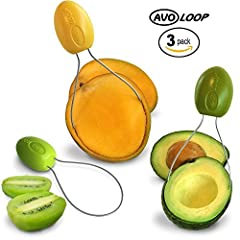 About The Amazing AvoLoop No more messy, mushy, gloopy messes! Avocado Guacamole in minutes with no waste! Simply cut your Avocado, or Kiwi in half just through the skin on Mangoes, then slip the loop under the skin of the fruit in a scooping...