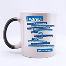 Romantic Valentine's Day Gift - I Wanna Grow Old With You Color Changing Mug Morphing Coffee Mugs Cup, Romantic Gift for Lovers/Husband/Wife/Boyfriend/Girlfriend - 11oz sizes