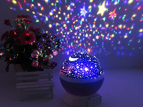 PowerTRC Night Light Lamp | Star Light Projector | Rotating Projector | 4 LED Bulbs with 8 Different Modes | Perfect Gifts for Children and Kids Bedroom (Pink) by PowerTRC (Image #1)