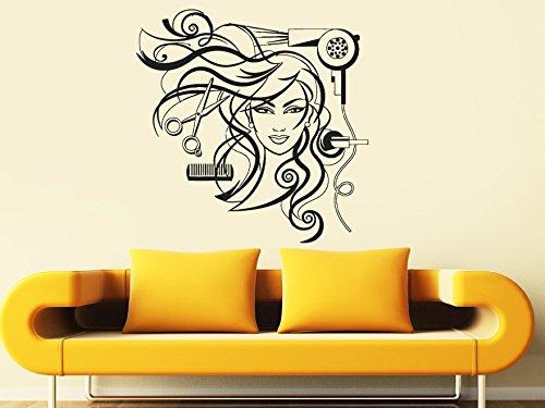 Sticker Hairdresser Hairdryer Scissors Hairbrush product image