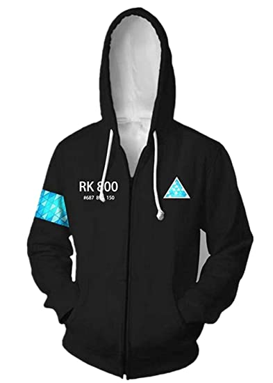New Detroit Become Human Connor RK800 Hoodie Sweatshirt Hooded Cosplay Costume