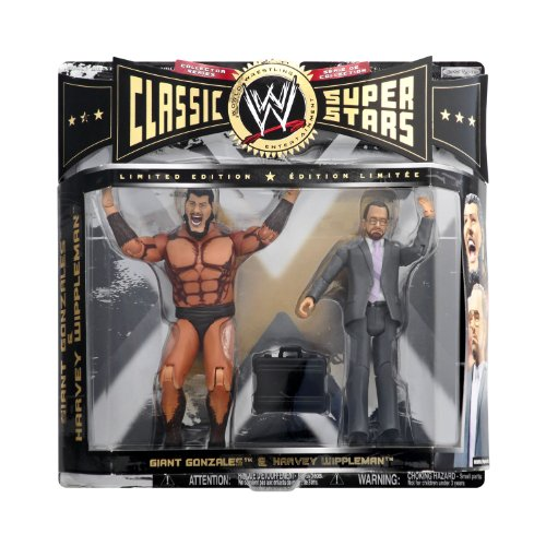 WWE Classic Super Stars Giant Gonzales & Harvey Wippleman (LIMITED EDITION) by Jakks - Edition Limited Superstars Classic