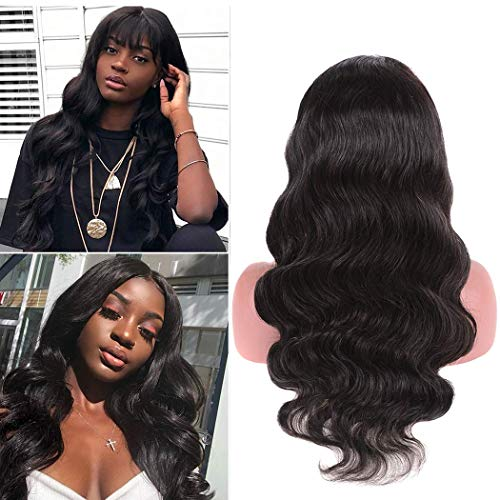 Body Wave Human Hair Wig Lace Front Glueless Pre Plucked And Bleached Glueless With Baby Hair 150 Density Free Part Mink Brazilian Unprocessed Virgin Remy Prime Wholesale Same Day Ship 16 Inch