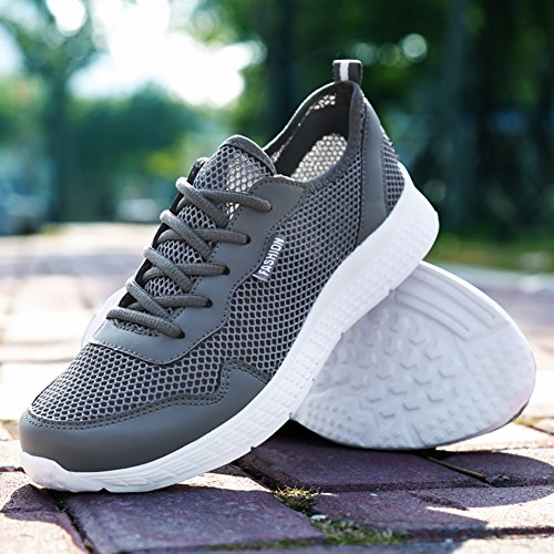 Scuro Running da all'Aperto 48 3 Basse Sneakers grigio 39 Fitness Interior Scarpe Uomo Sportive Corsa Elaphurus Casual Ginnastica RTUwqUx